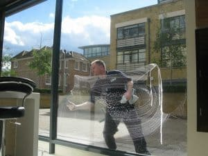 reach and wash window cleaner