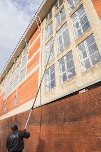 Stadium window cleaning kia oval