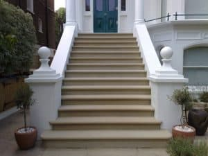 stone steps cleaning